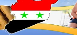 Syria Falg and Map